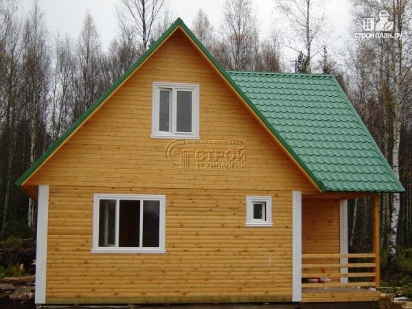 Фото 11: проект загородный дом 8х8 мсмансардой и двумя террасами