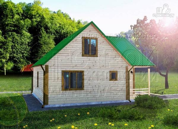 Фото 3: проект загородный дом 8х8 мсмансардой и двумя террасами