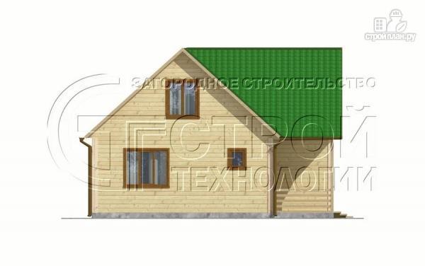 Фото 10: проект загородный дом 8х8 мсмансардой и двумя террасами