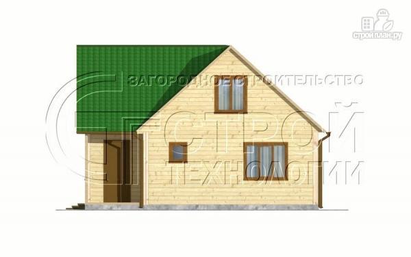 Фото 8: проект загородный дом 8х8 мсмансардой и двумя террасами