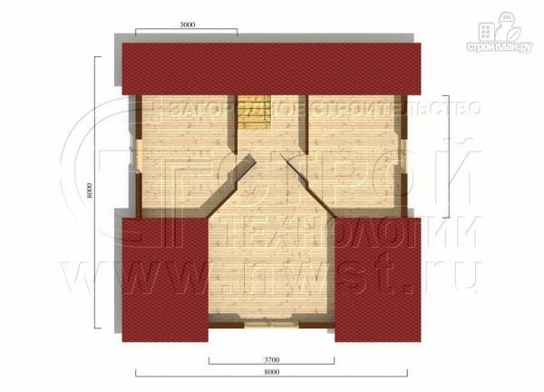 Фото 6: проект загородный дом 8х8 мсмансардой и двумя террасами
