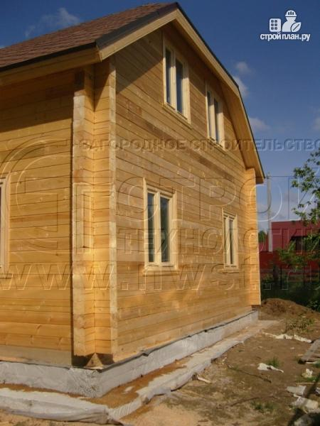 Фото 15: проект загородный дом 6х7 мс мансардой и брусовой верандой