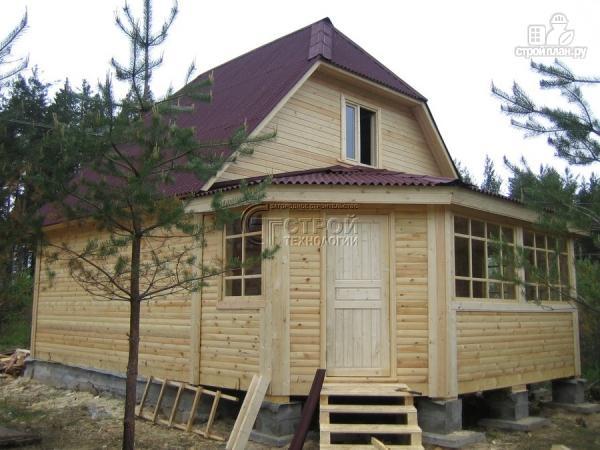 Фото 11: проект загородный дом 6х7 мс мансардой и брусовой верандой