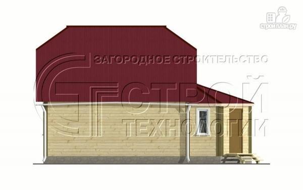 Фото 9: проект загородный дом 6х7 мс мансардой и брусовой верандой