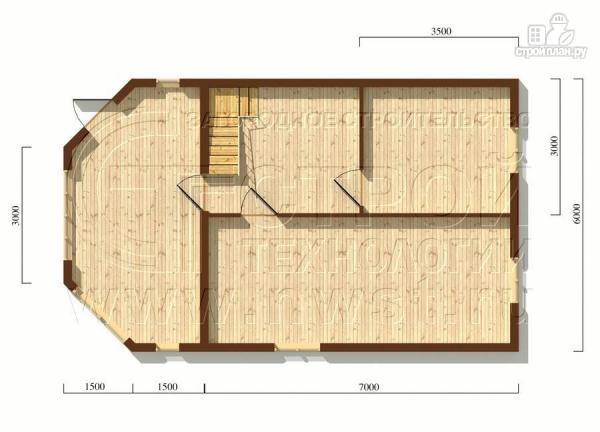Фото 5: проект загородный дом 6х7 мс мансардой и брусовой верандой