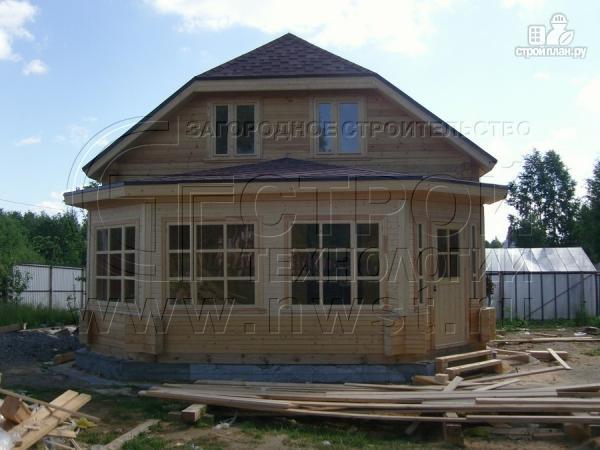 Фото 14: проект загородный дом 6х7 мс мансардой и брусовой верандой