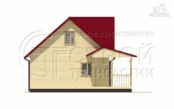 Фото 10: проект загородный дом 9х7 мс мансардой и террасой
