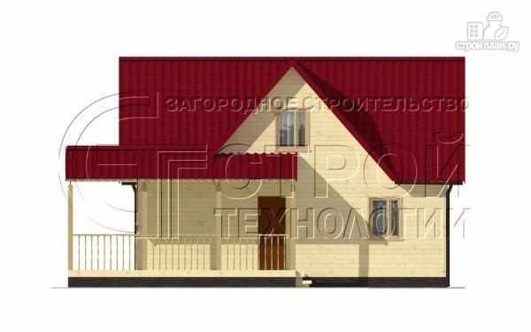 Фото 8: проект загородный дом 9х7 мс мансардой и террасой