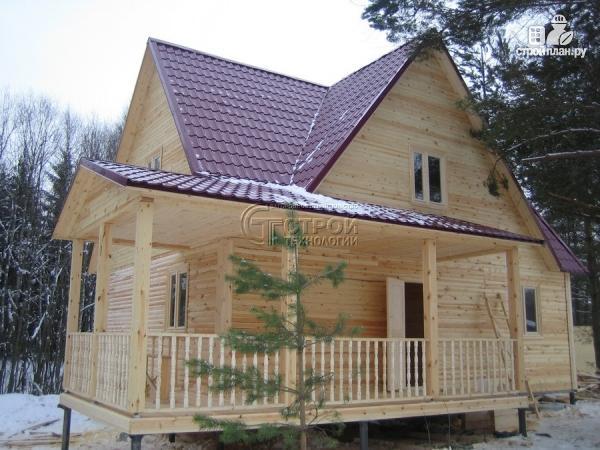 Фото 12: проект загородный дом 9х7 мс мансардой и террасой