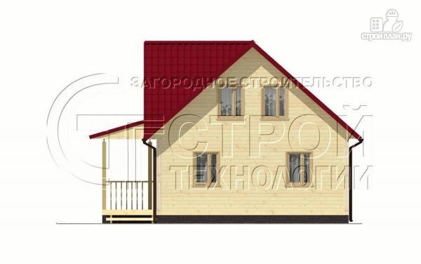 Фото 7: проект загородный дом 9х7 мс мансардой и террасой