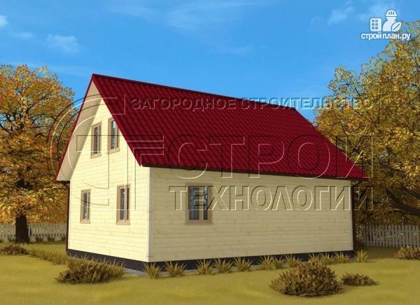 Фото 3: проект загородный дом 9х7 мс мансардой и террасой