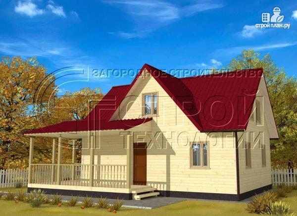 Фото: проект загородный дом 9х7 мс мансардой и террасой