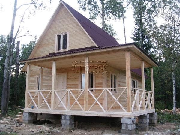 Фото 11: проект загородный дом6х8 м с мансардой и террасой