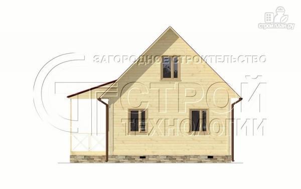 Фото 8: проект загородный дом6х8 м с мансардой и террасой