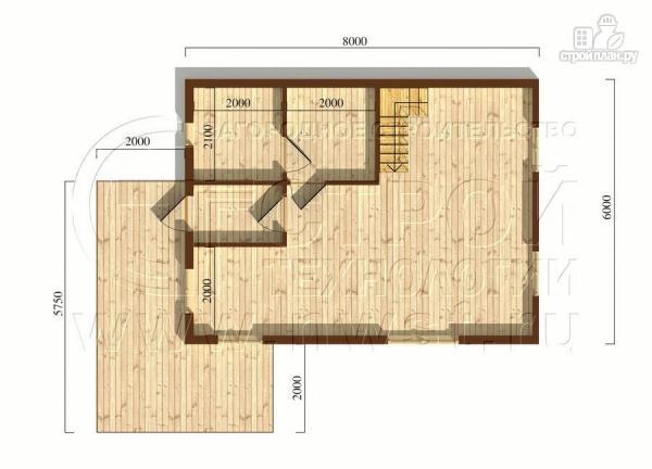 Фото 5: проект загородный дом6х8 м с мансардой и террасой