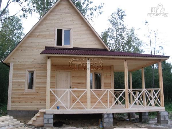 Фото 13: проект загородный дом6х8 м с мансардой и террасой