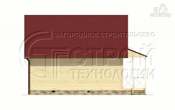 Фото 7: проект загородный дом6х8 м с мансардой и террасой