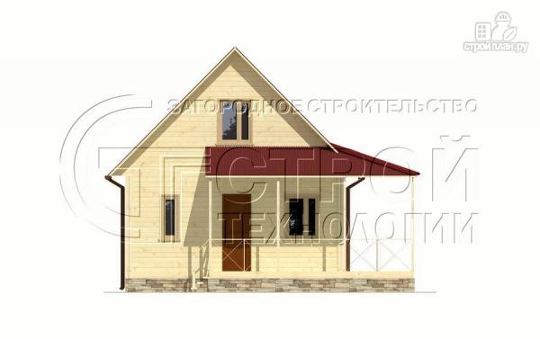 Фото 9: проект загородный дом6х8 м с мансардой и террасой