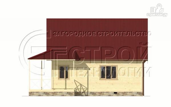 Фото 10: проект загородный дом6х8 м с мансардой и террасой