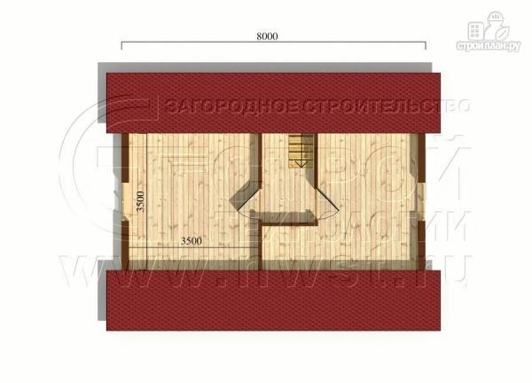 Фото 6: проект загородный дом6х8 м с мансардой и террасой