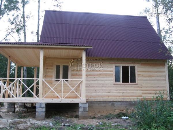Фото 12: проект загородный дом6х8 м с мансардой и террасой