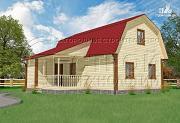 Проект загородный дом 6х9 мс мансардой, террасой и хоз. помещением