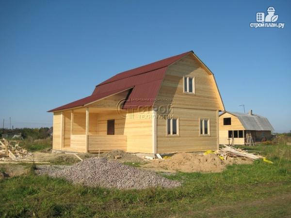 Фото 12: проект загородный дом 6х9 мс мансардой, террасой и хоз. помещением