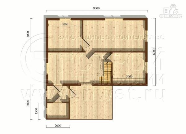 Фото 5: проект загородный дом 6х9 мс мансардой, террасой и хоз. помещением