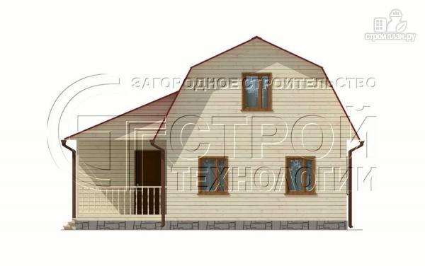 Фото 8: проект загородный дом 6х9 мс мансардой, террасой и хоз. помещением