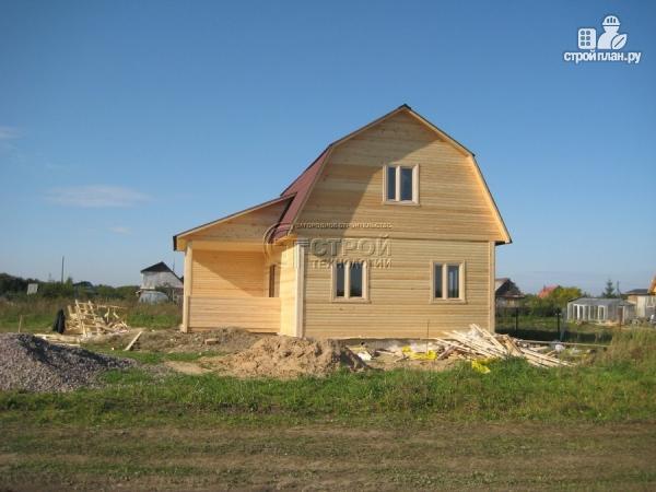 Фото 13: проект загородный дом 6х9 мс мансардой, террасой и хоз. помещением