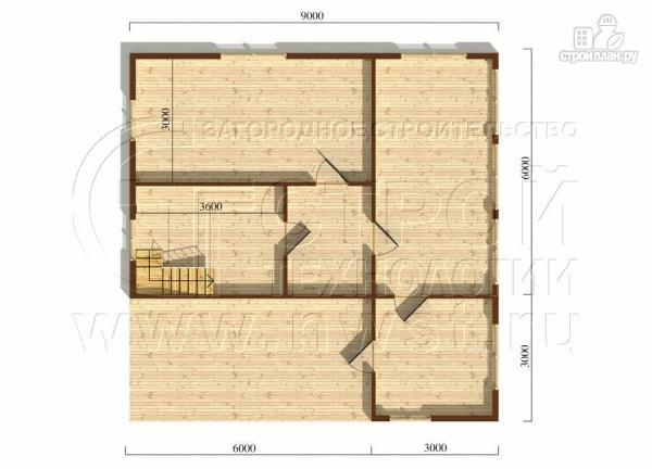 Фото 5: проект загородный дом 6х6 мс террасой, верандой, лоджией и мансардным этажом