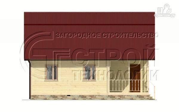 Фото 9: проект загородный дом 6х6 мс террасой, верандой, лоджией и мансардным этажом