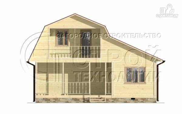 Фото 7: проект загородный дом 6х6 мс террасой, верандой, лоджией и мансардным этажом