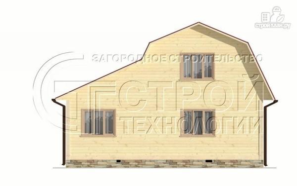 Фото 10: проект загородный дом 6х6 мс террасой, верандой, лоджией и мансардным этажом