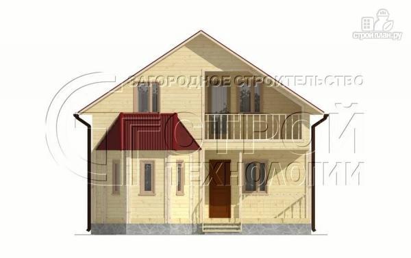 Фото 7: проект загородный дом 8х9 м с эркером, террасой, лоджией и мансардным этажом
