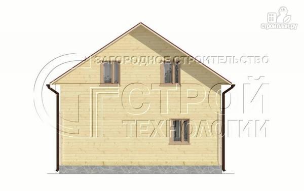 Фото 9: проект загородный дом 8х9 м с эркером, террасой, лоджией и мансардным этажом