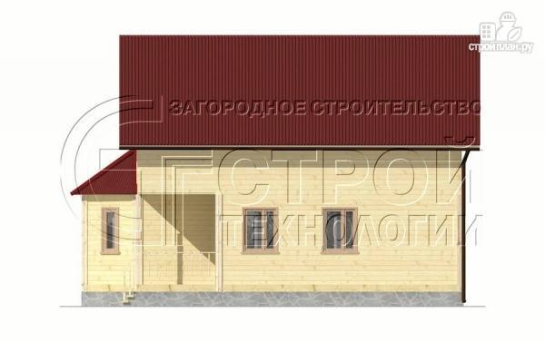 Фото 8: проект загородный дом 8х9 м с эркером, террасой, лоджией и мансардным этажом