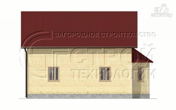 Фото 10: проект загородный дом 8х9 м с эркером, террасой, лоджией и мансардным этажом