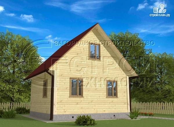 Фото 2: проект загородный дом 6х6 мс мансардой