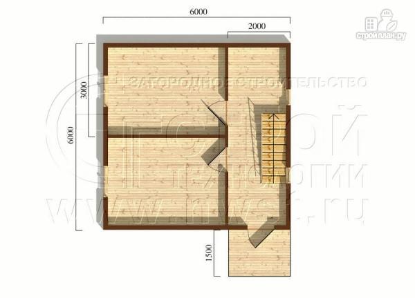 Фото 5: проект загородный дом 6х6 мс мансардой