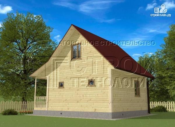 Фото 3: проект загородный дом 6х6 мс мансардой