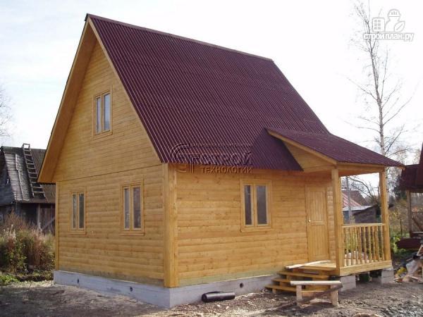 Фото 12: проект загородный дом 6х6 мс мансардой