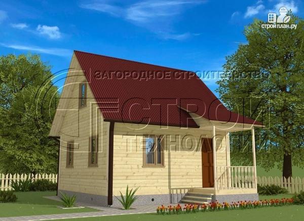 Фото: проект загородный дом 6х6 мс мансардой