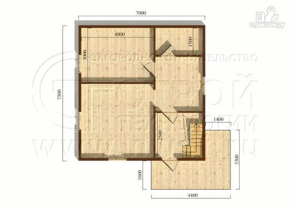 Фото 5: проект загородный дом 7х7,5 с террасой и мансардой