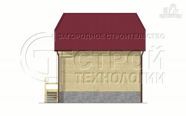 Фото 9: проект загородный дом 7х7,5 с террасой и мансардой