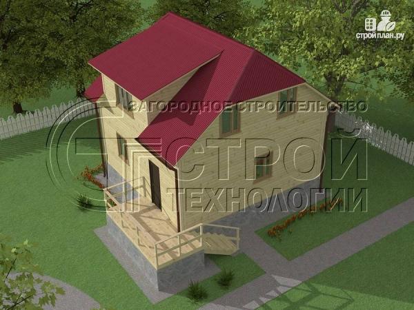 Фото: проект загородный дом 7х7,5 с террасой и мансардой