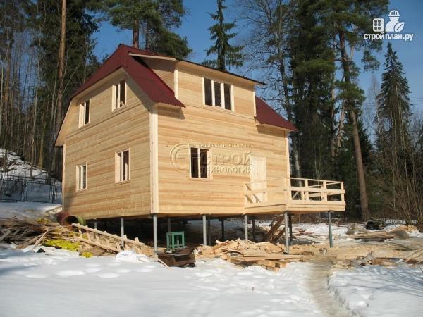 Фото 11: проект загородный дом 7х7,5 с террасой и мансардой