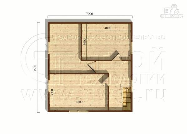 Фото 6: проект загородный дом 7х7,5 с террасой и мансардой