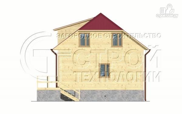 Фото 10: проект загородный дом 7х7,5 с террасой и мансардой