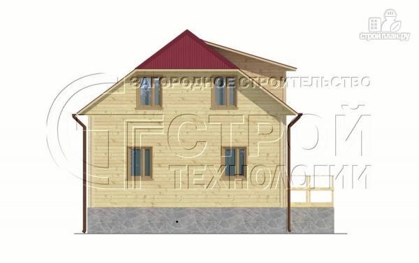 Фото 8: проект загородный дом 7х7,5 с террасой и мансардой
